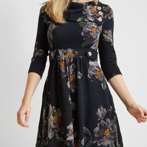 Navy Floral ModCloth Dress